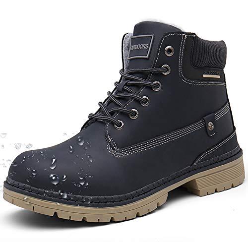 Botas de Nieve Hombre Mujer Cálido Botines Planas Invierno Impermeables Zapatos Senderismo Zapatillas Deportes Trekking Confortables Sneakers