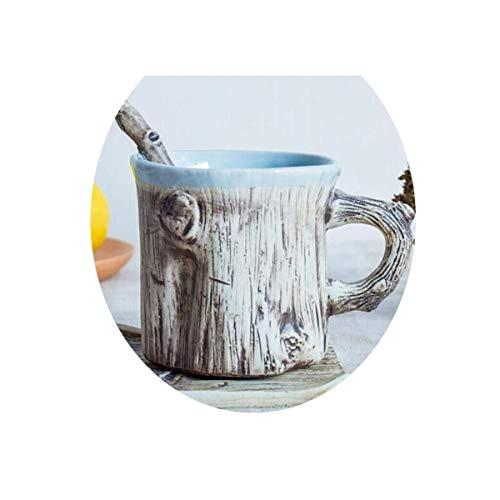Z-LIANG Copas Personalidad creativa Taza de café, cuchara árbol Mango leche del desayuno taza de cerámica, Oficina de hombres y mujeres parejas Taza de té, Pares divertidos de la Copa, taza de cerámic