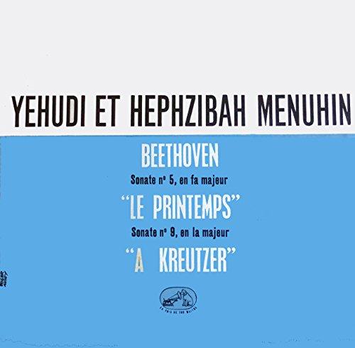 1 Disque Vinyle LP 33 Tours - La Voix de son Maitre FALP 626 - Yehudi et Hephzibah Menuhin - BEETHOVEN - Sonate n°5 en Fa majeur 'Le Printemps' - Sonate n°9 en la majeur 'A Kreutzer'