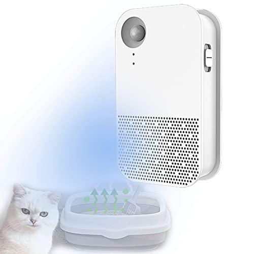YYFGJCC Purificador De Aire para Mascotas,Desodorante Ambientador De Ozono para Caja De Arena para Gatos,Inodoro para Gatos,Inodoro para Perros,Desodorante Sin Fragancia