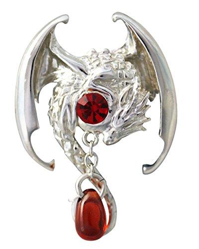 Fafnir - Für Reichtum und magische Fähigkeit - Anne Stokes Mythische Gefährten Amulette - Aus 925er Sterling Silber gefertigt und mit einer 925er Silberkette ausgestattet -