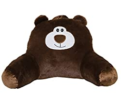 cute bear cartoon back support reading pillow with arms for kids