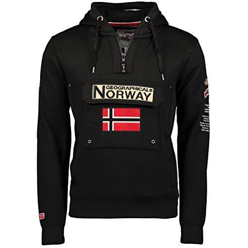 Geographical Norway Sudadera con capucha para hombre negro L