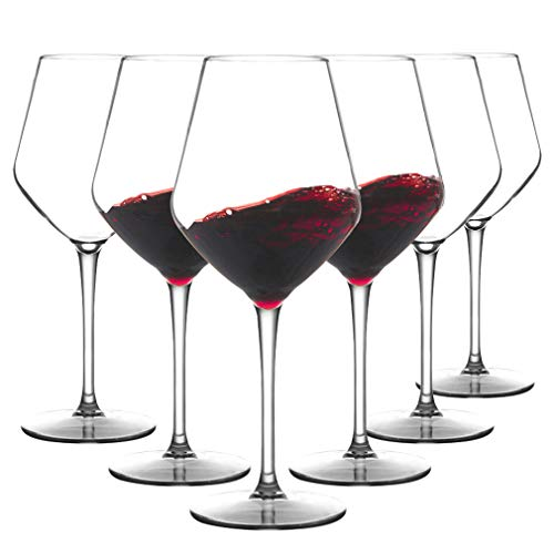MICHLEY Unbreakable Stemmed Wine Glass 100% Tritan Plastic Dishwasher available Glassware 15 oz, Set of 6
