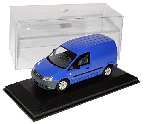 Minichamps Volkwagen Caddy Kasten Transporter Blau 2003-2010 1/43 Modell Auto