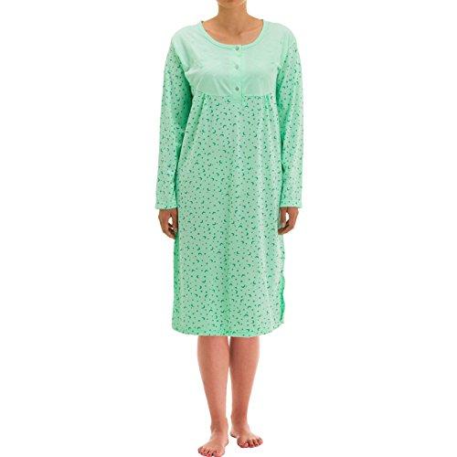Tijdloos dames nachthemd sterrenhemel (XXL, mint)