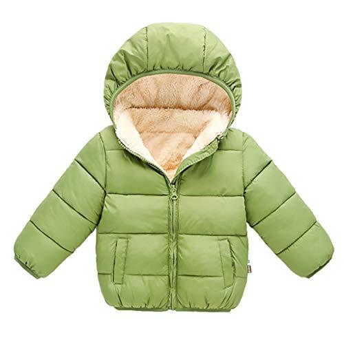 ZEZKT Kinder Junge Mädchen Ultraleichte Daunenjacke Weste Herbst Winter Softshell Jacke Einfarbig Knopf Warme Outwear Jacket Steppjacke Daunenmantel 1-5 Jahre
