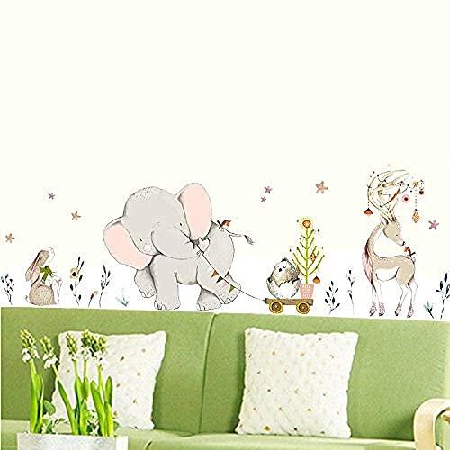 Habitación para niños Etiqueta decorativa de la pared Elefante Patrón de elefante Decoración de la casa Bócalos Great Nursery Art