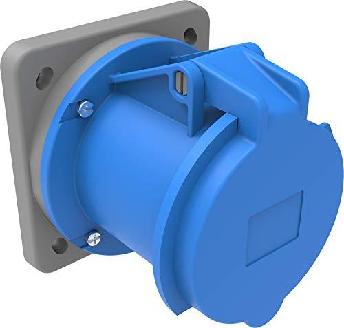 Bemis Cee Anbaudose 3x63A. (2P+E) 220V. 50/60 Hz. 6h IP44 - Blau