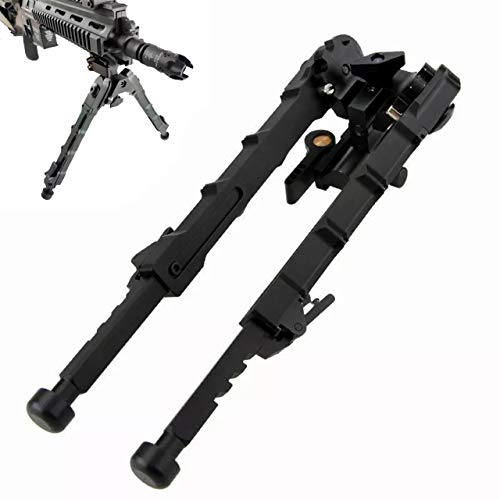 RimFly Bipode para Rifle V9 de Airsoft M-LOK Tactico Full Metal 6-9 Pulgadas Plegable para Caza con Rail Picatinny 20mm Giratorio y Base Antideslizante y Altura Regulable Tripode Armas