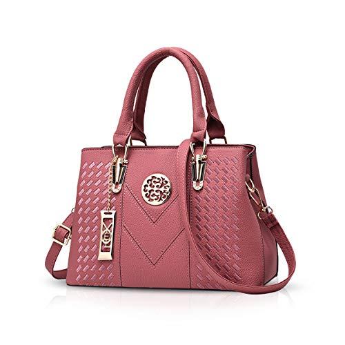 NICOLE & DORIS Damenhandtaschen Handtaschen Topgriffe Schultertasche Umhängetaschen Klassische Handtaschen von Frauen Rose