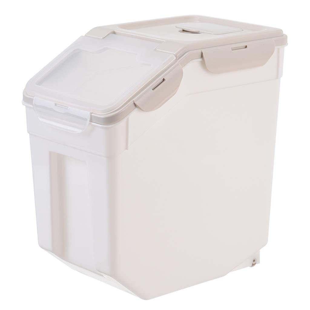 Caja De Almacenamiento De Cocina Contenedor De Almacenamiento De Alimentos 3 Sellos Pesados + A Prueba De Insectos - PláStico Transparente - Cubo De Almacenamiento De Arroz De Almeja 10 Kg / 15 Kg: Amazon.es: Hogar
