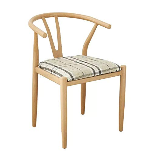 Nordic Dining Table and Chair Combination Wrought Iron Imitation Wood Y-Shaped Chair Kennedy Taishi Chair Simple Household
