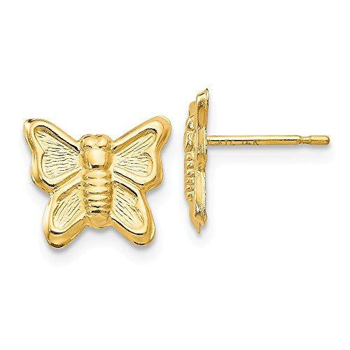 14K Madi K mariposa pendientes de Post