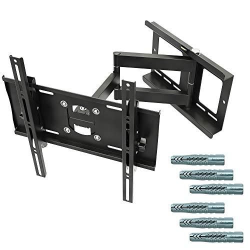 RICOO TV Wandhalterung, Schwenkbar Neigbar Universal (R23-F) Flachbild-Fernseher-Halterung für 32-65 Zoll (bis zu 95-Kg, Max-VESA 400x400) LCD OLED Curved-Bildschirm Fernsehhalterung