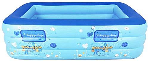 Mopoq Piscina | inflable, antideslizante de la capa inferior | Fácil de drenaje, Adoptar Grado superior de la válvula de seguridad | piscina for niños y adultos interior y exterior | resistente y dura