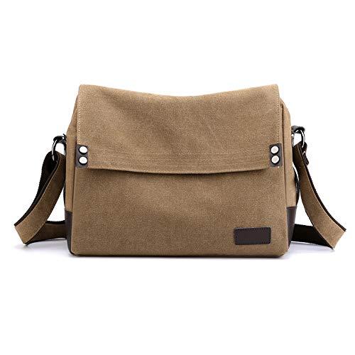 Men's canvas bag leisure shoulder bag multi function light men's bag large capacity messenger bag