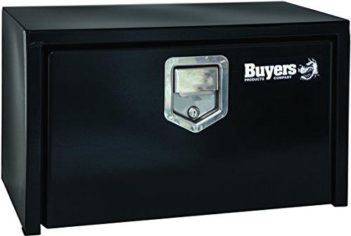 Buyers Products Black Steel Underbody Truck Box w/ Paddle Latch (18x18x30 Inch) (1702103)