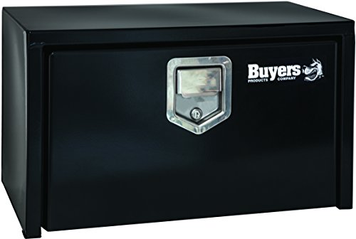 Buyers Products 1703150 Black Steel Underbody Truck Box w/ Paddle Latch (14x12x24 Inch)