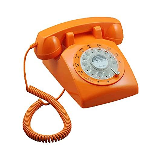 HAOJON Teléfono Fijo con Cable con Cable y teléfono Antiguo Retro de la Vendimia para el Ornamento del Escritorio de la Oficina en casa