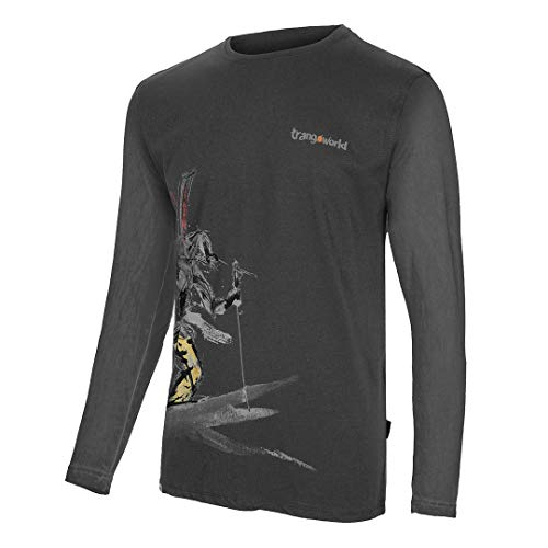 Trangoworld The Lonely Long Camiseta, Hombre, Gris Ceniza, 2XL