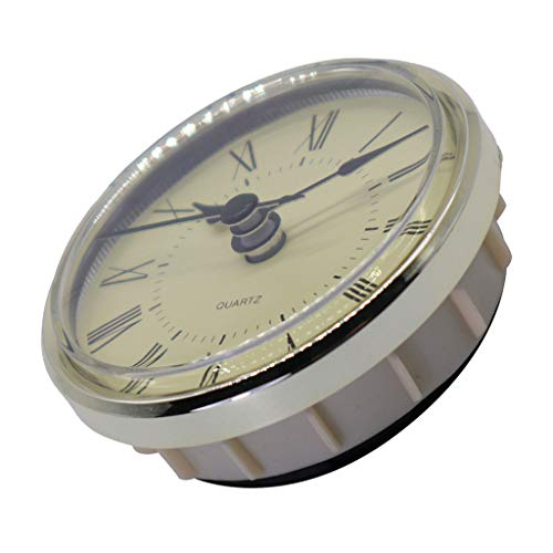 dailymall Clear Clock Inserts, Round Clock Inserts Recessed Quartz Clockwork Table Clock Clock Movement Clock DIY (Diameter 70mm, Plastic)