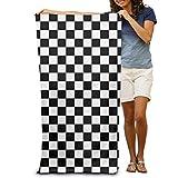 2018 pants Black White Race Checkered Flag Adult Beach Super Soft...