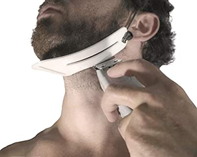 Beard Shaper, Shaping Tool for Under Neck Line Trimming Template/Stencil. Perfect Liner for Self Haircut & Beard Cut. It's a Must Have Home Accessory - Beard Cutting Guide. Beard Shaping Tool.