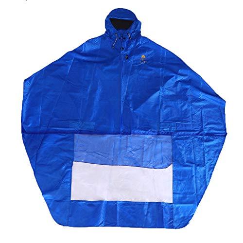 Générique Baoblaze Vestes Coupe-pluie Cape à Capuchon Imperméable Moto Pluie Costume Unisexe pour Activités Plein Air - Bleu royal, 1,5x1,4x0,03m