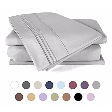 Bed Sheets Set King - DUCK & GOOSE CO.100% Double Brushed Softest 4pcs 1800 Microfiber Hypoallergenic Bedding Set, Wrinkle, Fade, Stain Resistant