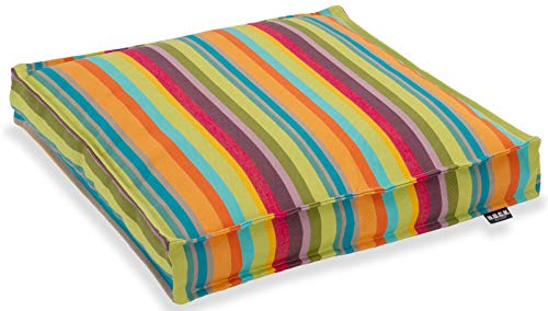 H.O.C.K. Outdoor Yucatan Sitzkissen/Stuhlkissen, wasserabweisend/lichtecht (40x40x5cm, Multicolour)