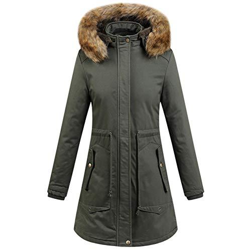 SHANGYI Dames Winterjassen en jassen Warm Dikke Jassen Hooded Coat Katoen Jas Winter Jas Vrouwen