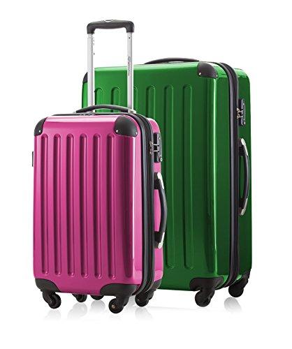 2 kofferset handbagage + reiskoffer in verschillende kleuren van HAUPTSTADTKOFFER