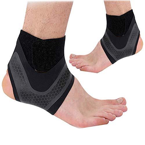 Tobillera de compresión transpirable con correa para el tobillo, estabilizador de pie ajustable, calcetines para la artritis, tendinitis de Aquiles, elevación de talón con esguince, daño de ligamentos ⭐