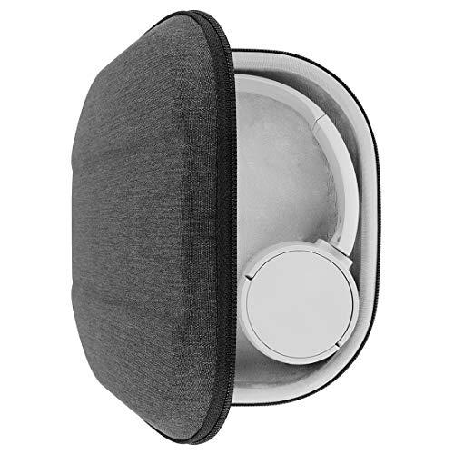 Geekria UltraShell hoofdtelefoonhoesje voor Sony WH-CH510, WH-CH500, WH-XB900N, WH-1000XM3, WH-1000XM2, MDR-1000X koptelefoon, vervangende beschermende harde schelp reistas met ruimte voor accessoires