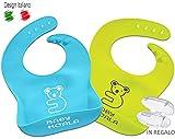 Babero de silicona impermeable para niños! Baby Koala Juego de 2 colores +...