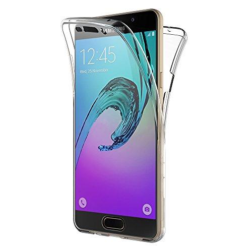 AICEK Samsung Galaxy A3 2016 Hülle, 360° Full Body Transparent Silikon Schutzhülle für Samsung A3 2016 Hülle Crystal Clear Durchsichtige TPU Bumper Galaxy A3 2016 Handyhülle (SM-A310F 4,7 Zoll)