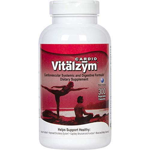 Vitälzym Cardio Proteolytic Systemic Enzymes with Serrapeptase, Nattokinase Plus CoQ10 | Best Non-GMO Natto Vegetarian Vitamin Supplement | Lower Heart Rate & Natural Blood Thinner Pill (300 Capsules)