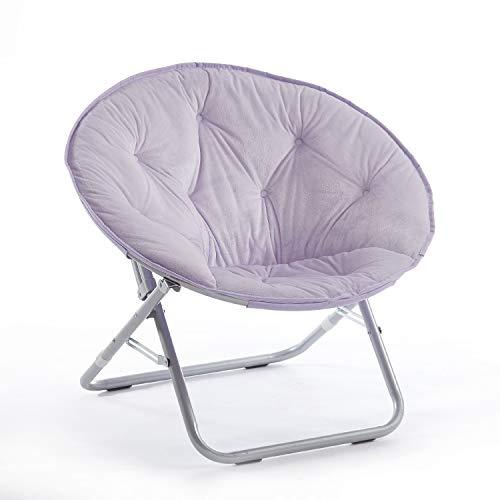 Urban Shop Micromink Saucer Chair, Lavender