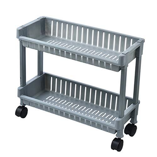 VISSJF Montaje Slim Storage Carro de Almacenamiento Mobile Estantería Unidad Organizador Deslice el Almacenamiento Rolling Utility Cart PP Material Tower Rack con Ruedas,A