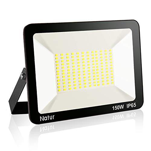 150W LED Strahler Wasserdicht 15000LM LED Fluter 6500K IP65 Tageslichtweiß für außen und innen Extraflach Flutlicht LED Strahler Außen Outdoor-Sicherheitsleuchte Außenstrahler
