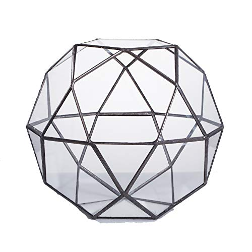Artistic Modern Klar Glas Geometrische Terrarium dreieckig Pentagon Mix 32-sides Display des frischen Farn Moos Bonsai Blumentopf Mittelpunkt