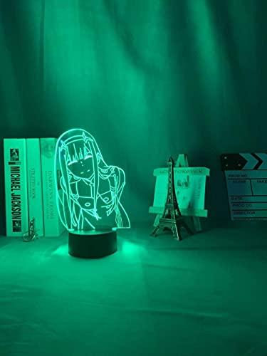 La luz nocturna LED Jellyllyy zero TV se utiliza para la decoración del dormitorio, la lámpara, la mesa de personajes, la animación con luz 3D, Waifu es la más popular entre las luces de TV zero