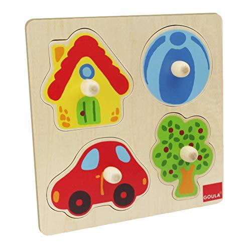 Puzzle goula madera color 4 piezas, D53015
