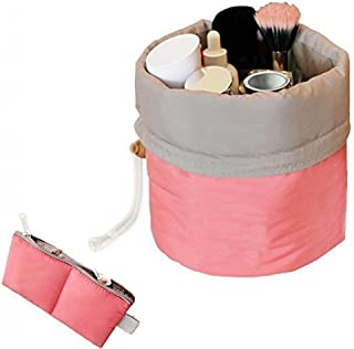 Shopo's Cushioned Travel Makeup kit Bag with Mini Zipper Purse and Transparent Pouch
