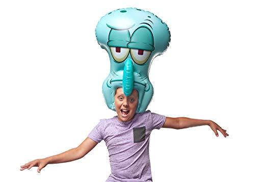 "SpongeBob SquarePants, Spongeheads, +20"" Tall Inflatable Wearable, Squidward, Blue"