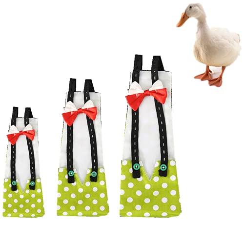 Pañal de ganso de pollo y pato lavable para mascotas pajarita pañales para gallinas, gallinas, aves de corral, 1 paquete (M, verde)