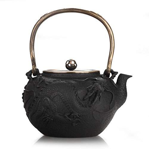 Cast Iron Teapots Youlong Teapot, Health Care Cast Iron Craft Pot, Copper Handle, Old Iron Pot, Cast Iron Teapot, Kettle 1.6L