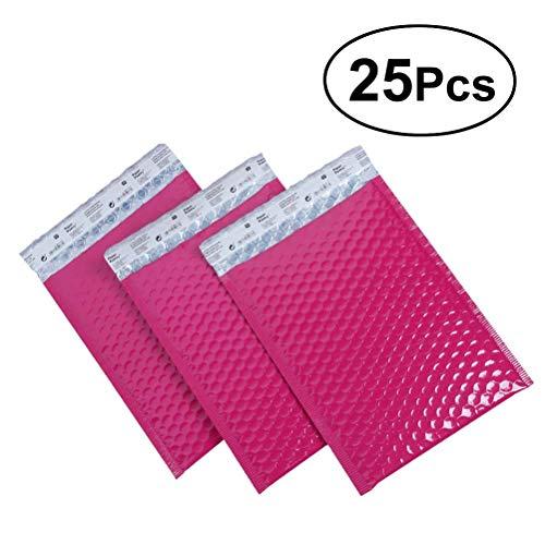 YEAHIBABY 15 * 20 cm Gepolsterte Briefumschläge Bubble Versandtaschen Blase Umschläge Taschen,25 Stücke (Rosy)