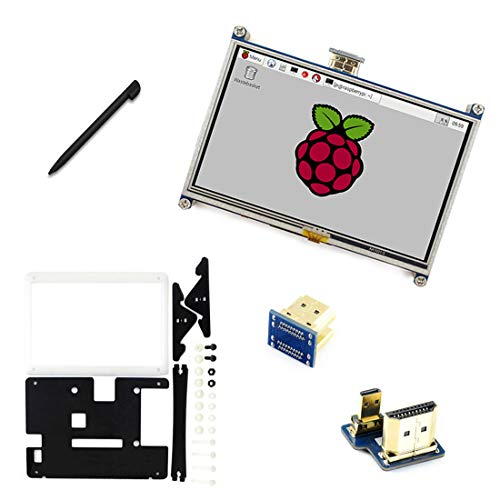 "Display LCD touchscreen da 3,5"", 320 x 480, display TFT, interfaccia SPI per RPI3/2 B/B+/A 5+inches with black case"